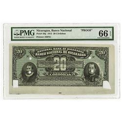 Banco Nacional de Nicaragua, 1912, Production Proof Banknote