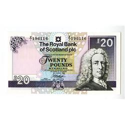 Royal Bank of Scotland plc, 1999 Issued Replacement Banknote.