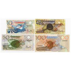 Seychelles Monetary Authority, ND 1979, and 1980 Specimen Banknote Quartet.