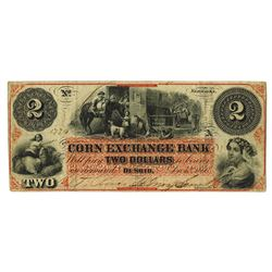 Corn Exchange Bank, 1860 Issued Obsolete Banknote.