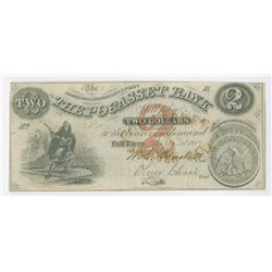 Pocasset Bank, 1859 Issued Obsolete Banknote.