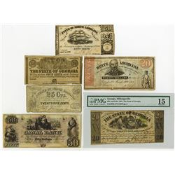 U.S. Southern Obsolete Banknote Assortment.