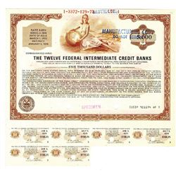 Federal Farm Credit Banks, 1973 Specimen Bond