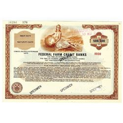 Federal Farm Credit Banks, ca.1970-1980 Specimen Bond