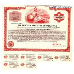 Thirteen Banks for Cooperatives, 1975 Specimen Bond