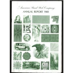 American Bank Note Co. Annual Report for 1981.
