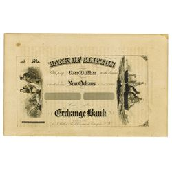 Sample Banknote & Check Sample Sheet, ca.1860-70's.