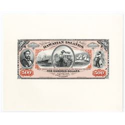 Kingdom of Hawaii, 1879 Silver Certificates of Deposit Souvenir Cards.