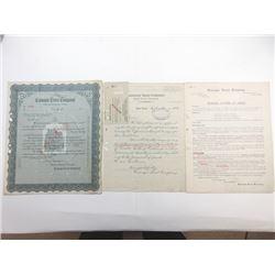Carnegie Trust Co., 1909-1910 Circular Letter of Credit Specimen.