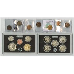 Lincoln Cent Assortment & 2017 Enhanced Silver Proof Set.