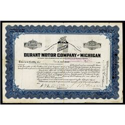 Durant Motor Co. of Michigan, Issued Stock.