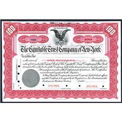 Equitable Trust Co. of New York, Specimen Stock.