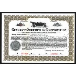 Guaranty Securities Corporation ca.1920-30s, Specimen Bond.