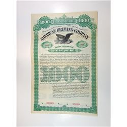 American Brewing Co., 1895 Specimen Bond