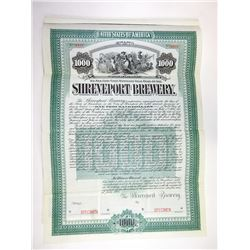 Shreveport Brewery 1905 Specimen Bond.