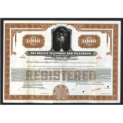 Pacific Telephone & Telegraph Co. 1936 Specimen Registered Bond.