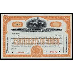 Thermiodyne Radio Corp. 1920-30s, Specimen Stock.