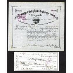 North Western Telephone Exchange Co. of Minnesota. 1883.