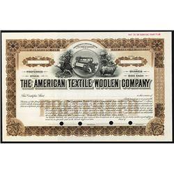 American Textile Woolen Co. 1910-20 Specimen Stock.