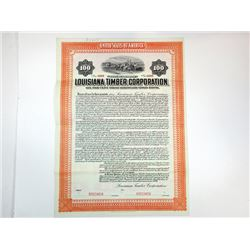 Louisiana Timber Corp., 1909 Specimen Bond