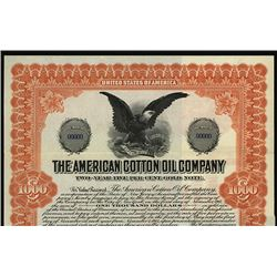 American Cotton Oil Co., 1917 Specimen Bond
