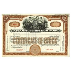 Atlantic Fruit Co., ca.1960-1970 Specimen Stock Certificate