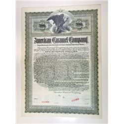 American Caramel Co., 1900 $500 Specimen 6% 1st Mortgage Gold Bond, XF ABNC