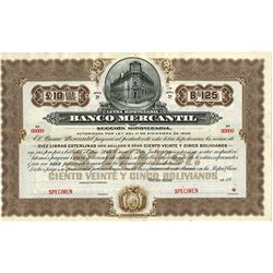 Banco Mercantil ca.1900 Specimen Bond