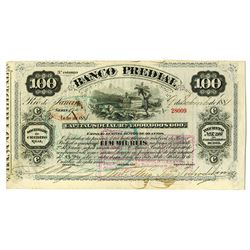 Banco Predial, 1881 I/C Circulating Bond.