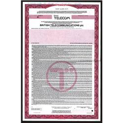 British Telecom. 1985 Specimen Depositary Share Certificate.