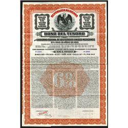 Bono Del Tesoro, 1913 Specimen 195 Pesos Bond.