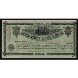 Silver Nugget Mining Co. 1881 Stock Certificate.