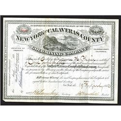New York & Calaveras County Gold Mining Co. 1880.