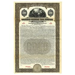 Sheridan-Wyoming Coal Co. Inc., 1927 Specimen Bond