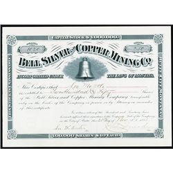 Bell Silver and Copper Mining Co., Issued Stock.
