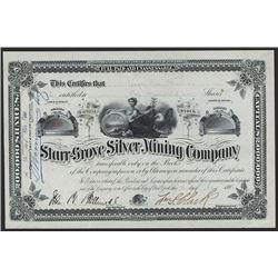 Starr-Grove Silver Mining Co. 1881 Issued Stock.