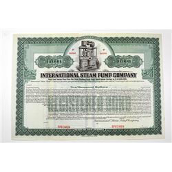 International Steam Pump, Specimen Bond, a Guggenheim Company.