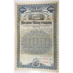Union Phosphate Mining Co., 1895 Specimen Bond