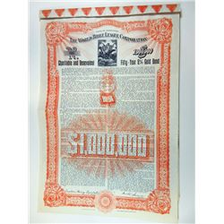 World Bible League Corp., 1911 Issued Bond