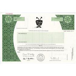 TiVo Inc., 1999 Specimen Stock Certificate
