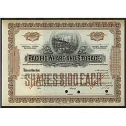 Pacific Wharf and Storage Co., 1900-1920 Specimen Stock.