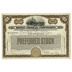 Haytian American Corp., 1920 Issued Stock Certificate.