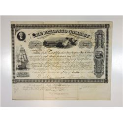 Patapsco Co., 1853 Cancelled Stock Certificate