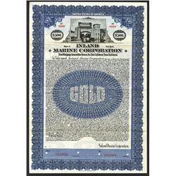 Inland Marine Corporation, 1922 Specimen Bond.