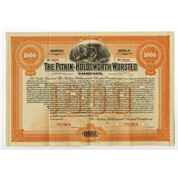 Pitkin-Holdsworth Worsted Co., ca.1930-1940 Specimen Bond