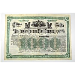 Empire Gas & Fuel Co. 1885 Specimen Bond.