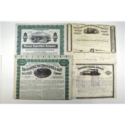 Mobile & Montgomery Railway Co. 1881 Specimen Bond.