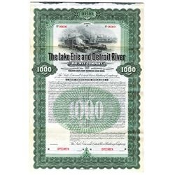 Lake Erie and Detroit River Railway Co., 1902 Specimen Bond