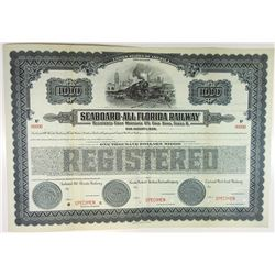 Seaboard-All Florida Railway 1925 Specimen Bond