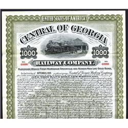 Central of Georgia Railway Co., 1905, $1000 Specimen Bond.